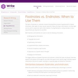 Footnotes vs. Endnotes: When to Use Them
