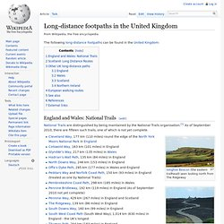 Long-distance footpaths in the United Kingdom