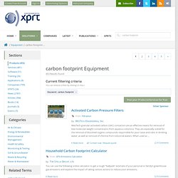 Carbon Footprints Equipment on Environmental Expert