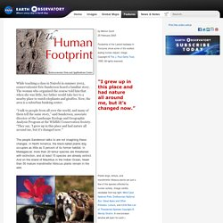 The Human Footprint : Feature Articles