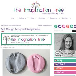 The Imagination Tree: Salt Dough Footprint Keepsakes