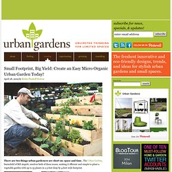 Small Footprint, Big Yield: Create an Easy Micro Organic Urban Garden Today! | Urban Gardens | Unlimited Thinking For Limited Spaces