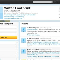 Water Footprint (waterfootprintn) on Twitter