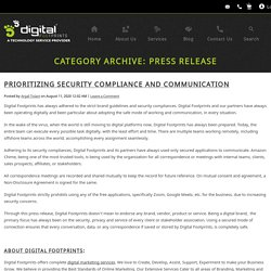 Press Release Archives - Digital Footprints Corporation