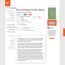 First footsteps in East Africa by Sir Richard Francis Burton