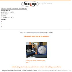 FOOTUP® CAR SEAT FOOTREST