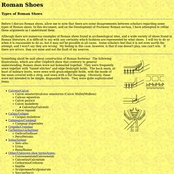 Footwear of the Middle Ages - Roman Shoes