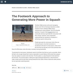 The Footwork Approach to Generating More Power in Squash
