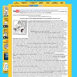21 Ways to Use MakeBeliefsComix.com in the Classroom
