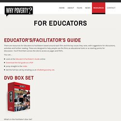 For Educators - WhyPoverty.net