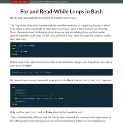 For and Read-While Loops in Bash
