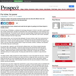For richer, for poorer – Prospect Magazine « Prospect Magazine