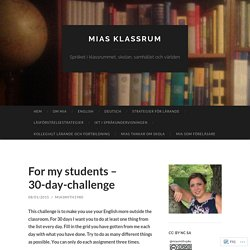 For my students – 30-day-challenge