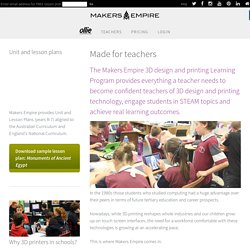 For Teachers - Makers Empire