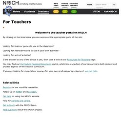 NRICH: Mathematics Enrichment - NC Levels 3/4 and up MA