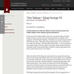 """For Valour:"" King George VI"