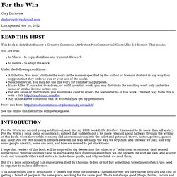 For the Win, by Cory Doctorow