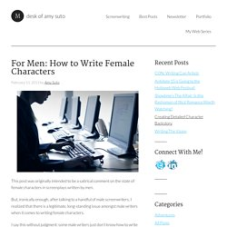 For Men: How to Write Female Characters