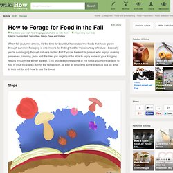How to Forage for Food in the Fall