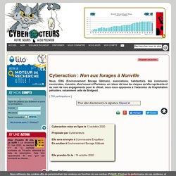 Non aux forages à Nonville cyberaction