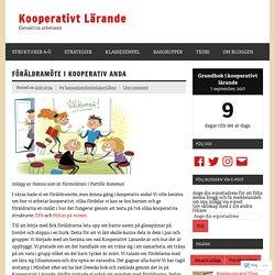 Föräldramöte i Kooperativ anda – Kooperativt Lärande