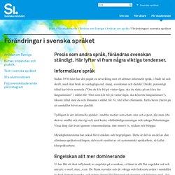 Förändringar i svenska språket