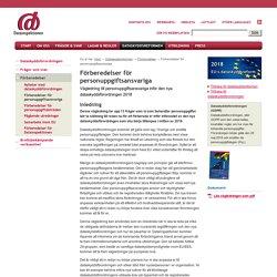 Förberedelser för personuppgiftsansvariga inför den nya dataskyddsförordningen