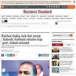 Forbes India rich list 2019: Mukesh Ambani retains top spot, Adani second