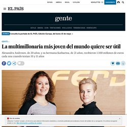Forbes: La multimillonaria más joven del mundo quiere ser útil