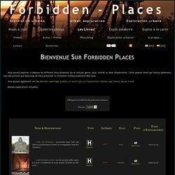 Forbidden Places: base de données d'exploration urbaine