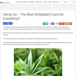Hemp Oil – The Best (forbidden) Cure for Everything?