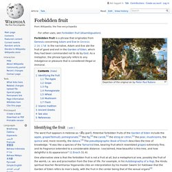 Forbidden fruit - Wikipedia