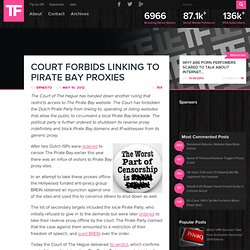 Court Forbids Linking to Pirate Bay Proxies