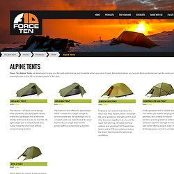 Force 10 Alpine Tents