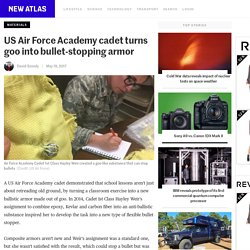 US Air Force Academy cadet turns goo into bullet-stopping armor