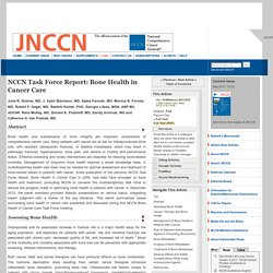 NCCN Task Force Report: Bone Health in Cancer Care