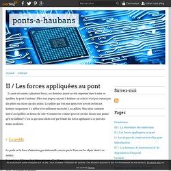 II / Les forces appliquées au pont - ponts-a-haubans