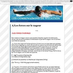 A/Les forces sur le nageur · Les combinaisons de natation