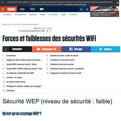 Forces et faiblesses des sécurités WiFi