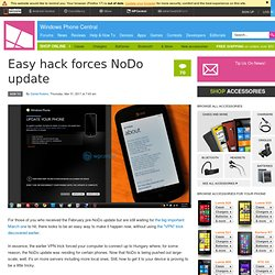 Easy hack forces NoDo update