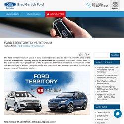 Ford Territory TX Vs Titanium