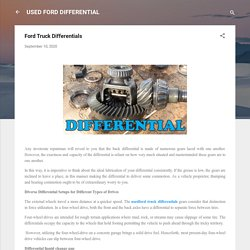 Ford Truck Differentials
