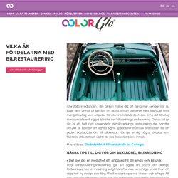 Vilka är fördelarna med bilrestaurering - ColorGlo