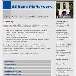 Stiftung Pfefferwerk
