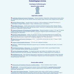 online angol-angol szótárak