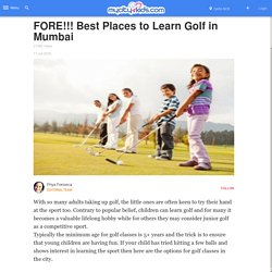 FORE Best Places to Learn Golf in Mumbai
