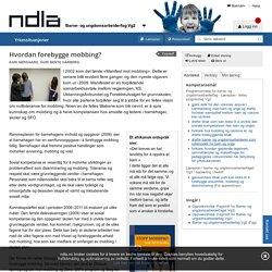 Hvordan forebygge mobbing? - Barne- og ungdomsarbeiderfag