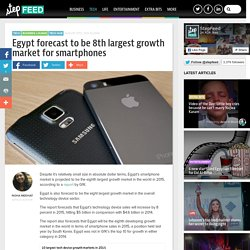 Egypt forecast to be 8th largest growth market for smartphones