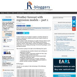 Weather forecast with regression models – part 1