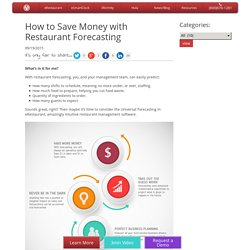 How to Save Money with Restaurant Forecasting - Altametrics